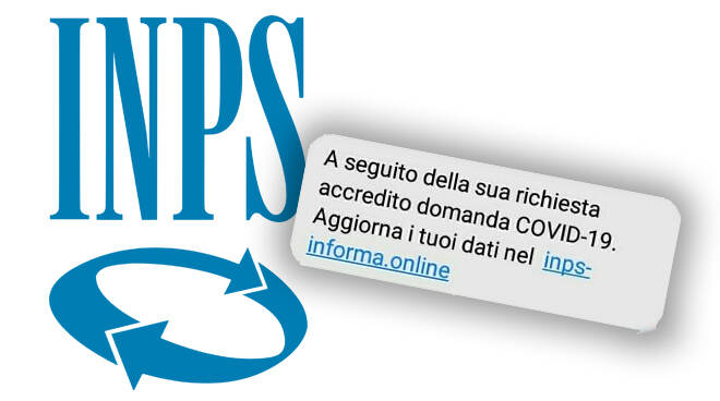 falso sms inps