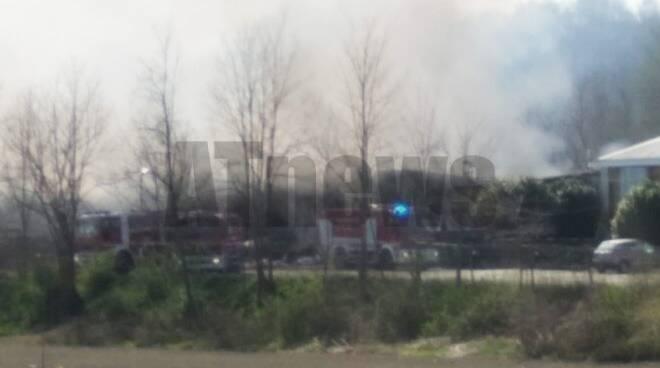 Incendio località rilate