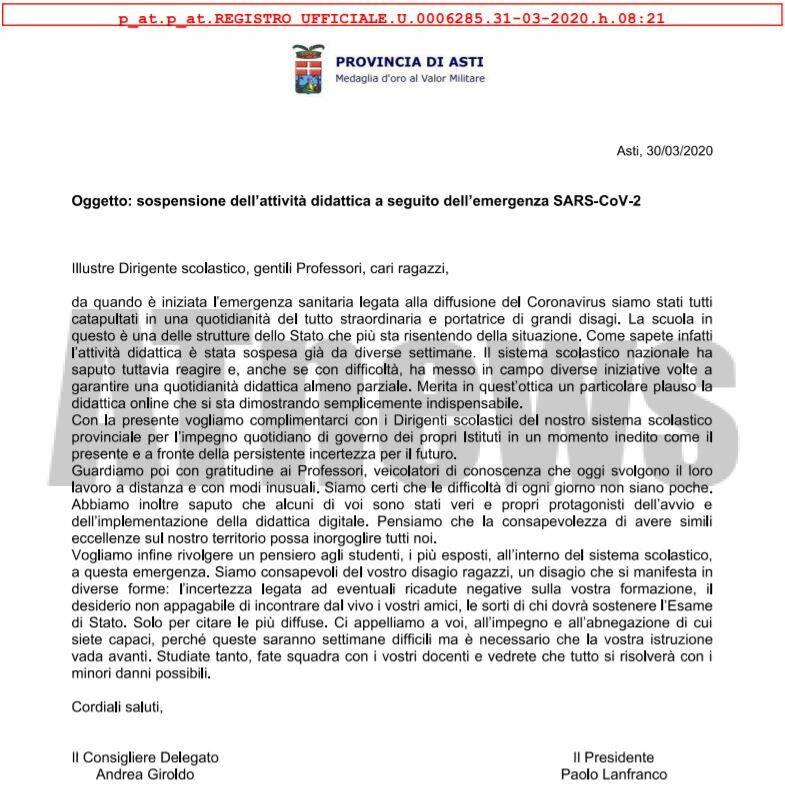 lettera giroldo lanfranco