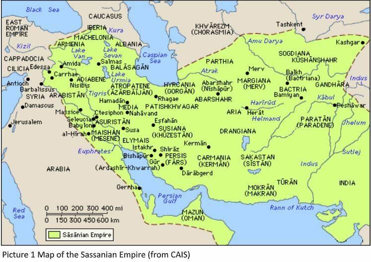 mappa sassanian