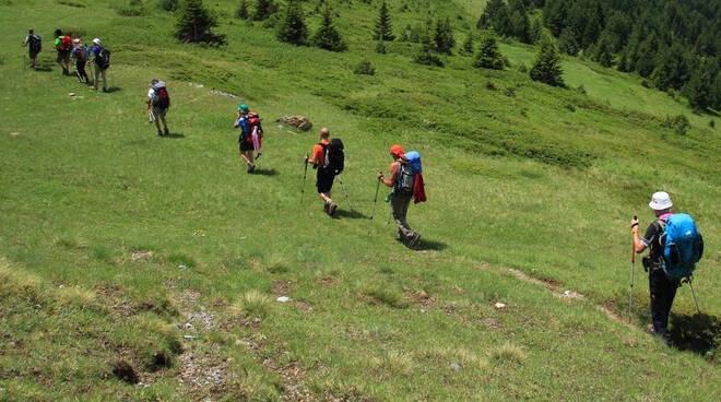 passeggiata in montagna, turismo