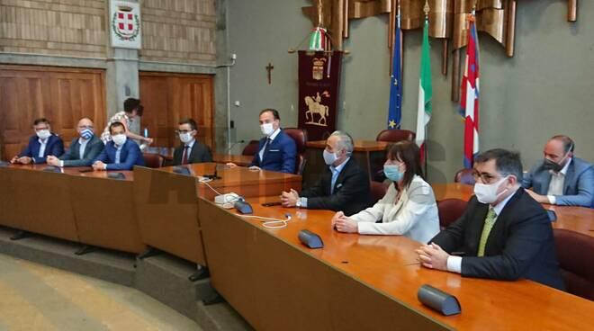 Conferenza stampa con regione in provincia