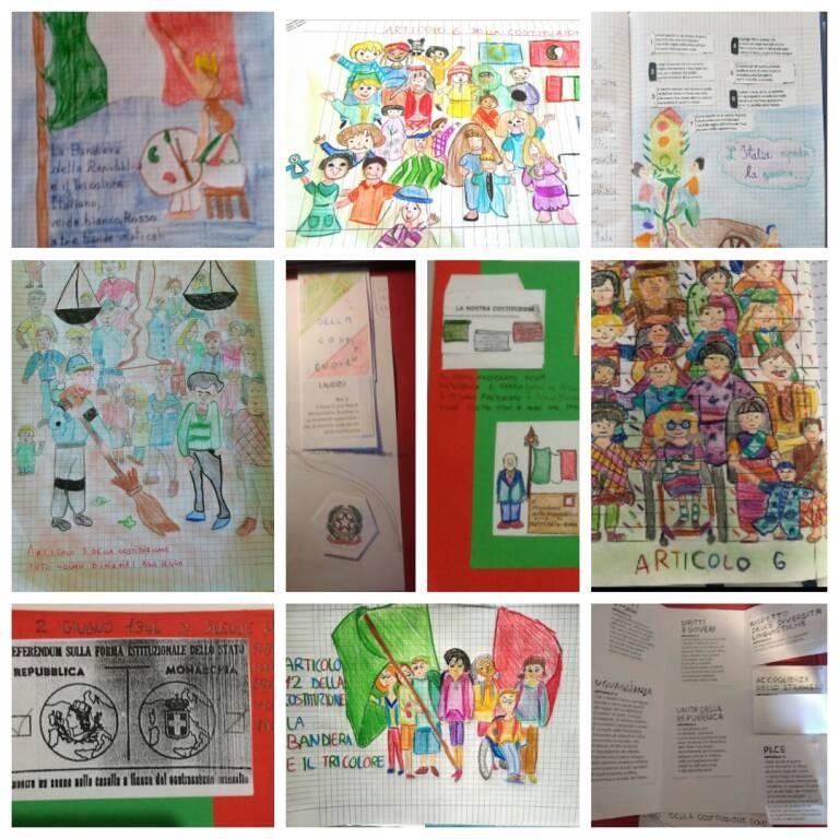 disegni festa della repubblica 2020 5A e 5B Anna Frank
