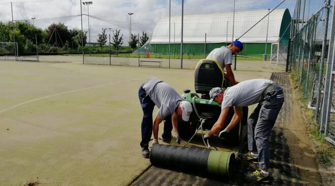lavori centro sportivo villanova d'asti