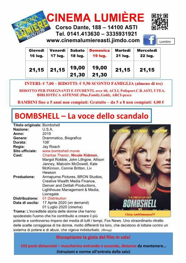 Asti, il Cinema Lumière propone Bombshell - la voce dello scandalo