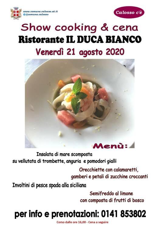 Calosso c'è: Showcooking e cena al Ristorante Il Duca Bianco