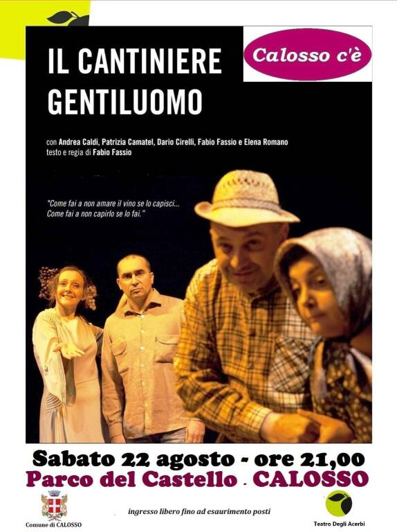 """Calosso, Teatro nel Parco del Castello """"Il cantiniere gentiluomo"""""""