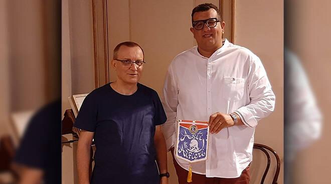 Il Lions Club Asti Alfieri in visita al Vescovo di Asti