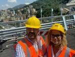 Il Sindaco Rasero e l'Assessore Morra visitano il nuovo Ponte di Genova