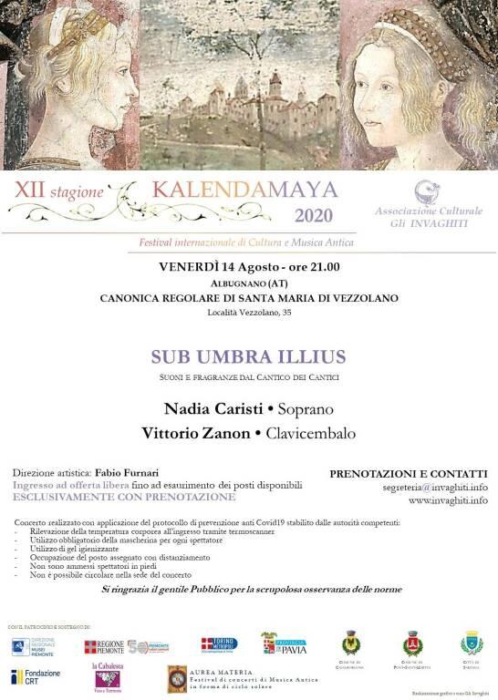 Kalendamaya 2020 -   Sub Umbra Illius 14 agosto 2020 Vezzolano