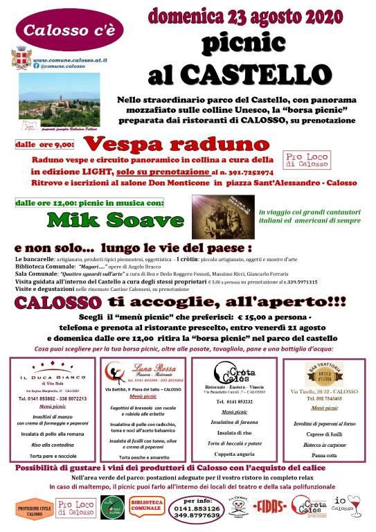 picnic al Castello di Calosso e Vespa raduno