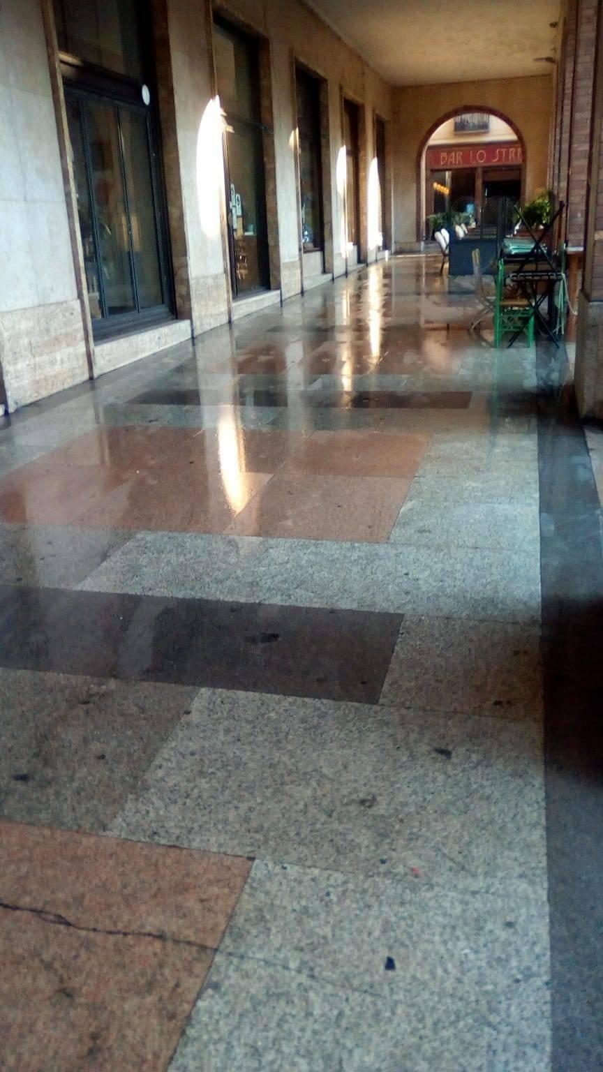 pulizia centro cittadino