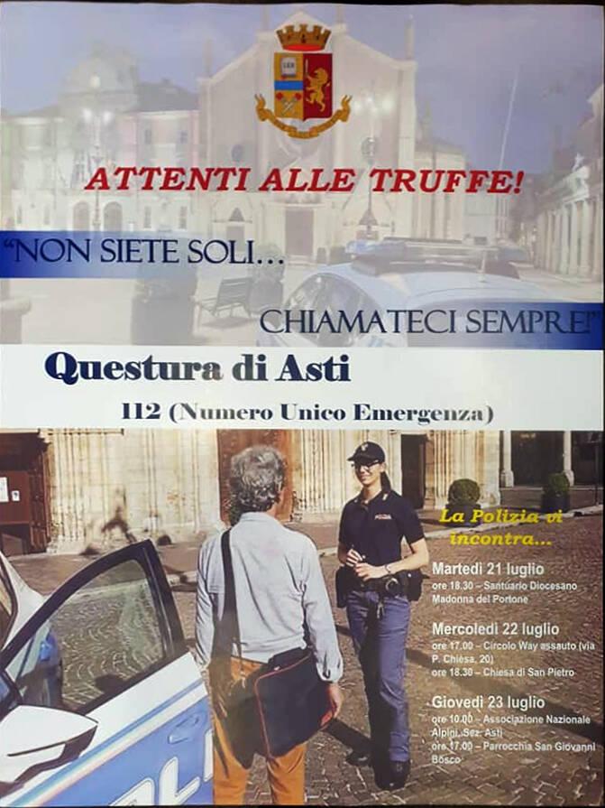 Truffe agli anziani in questura di Asti
