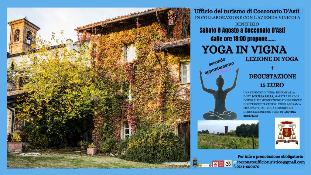 yoga in vigna 8 agosto