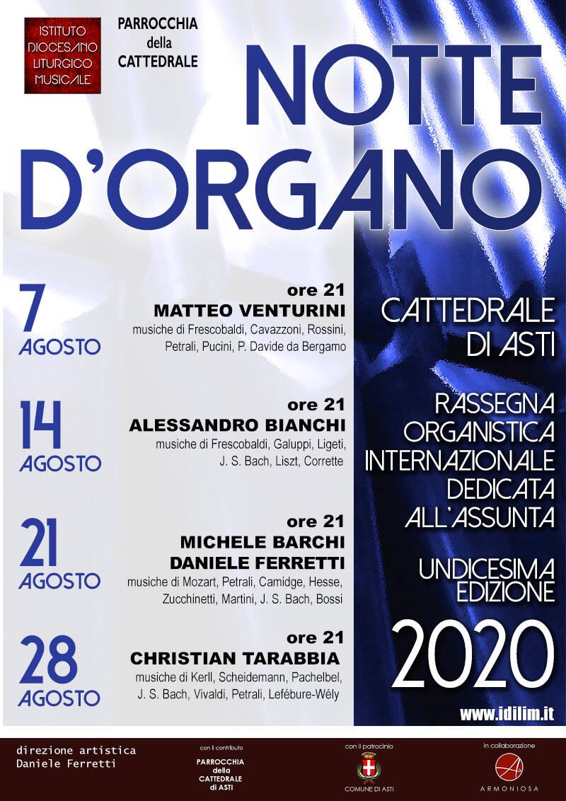 Asti, festival organistico