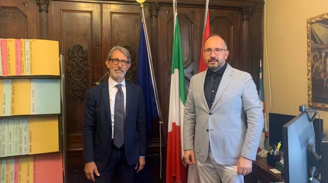 Incontro questore Sebastiano Salvo e sindaco Maurizio Rasero
