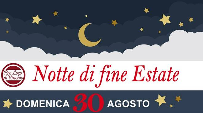 notte di fine estate 2020 vinchio