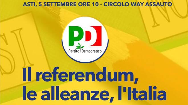 PD Asti, incontro sul Referendum Costituzionale