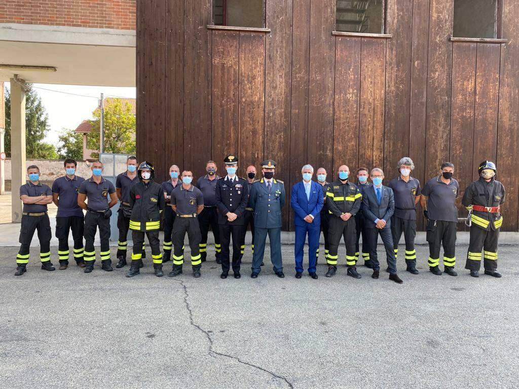 Visita Comando vigili del fuoco ferragosto 2020