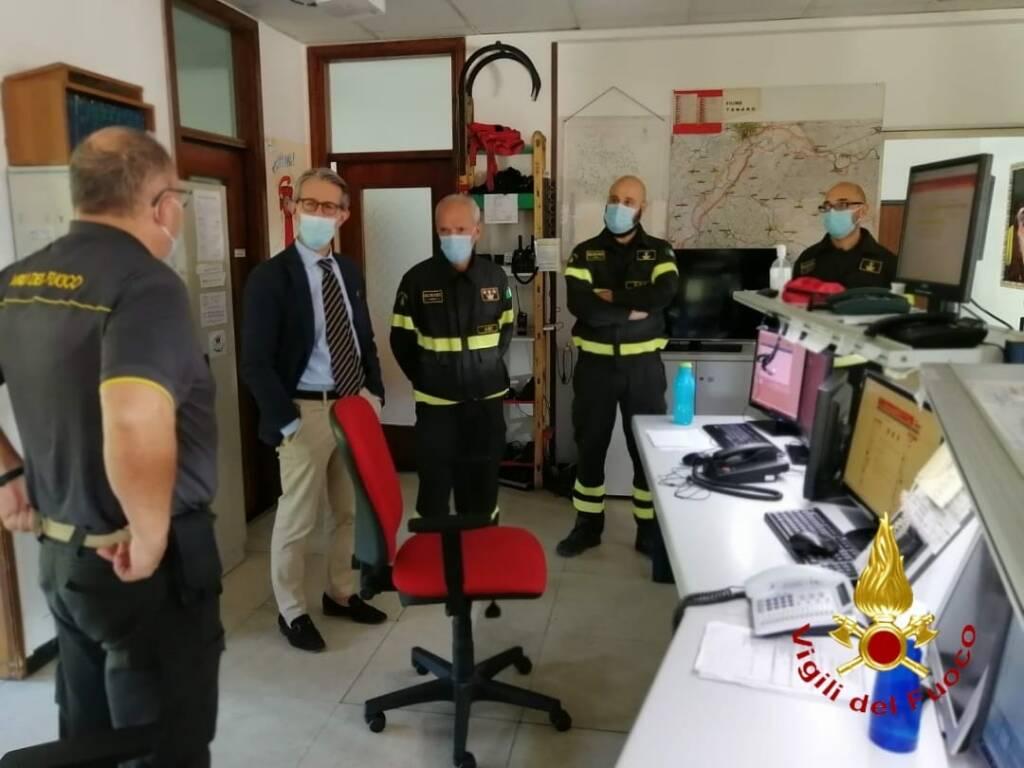 visita questore Salvo comando provinciale vigili del fuoco