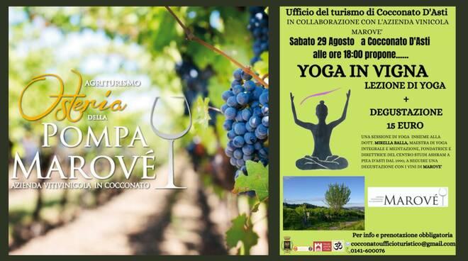 yoga in vigna 29 agosto