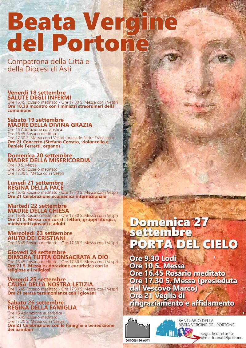 Asti, da venerdì ritorna la festa della Madonna del Portone