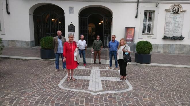 Asti, la protesta della minoranza in Piazza San Secondo San Secondo