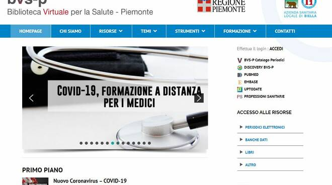 biblioteca virtuale per la salute
