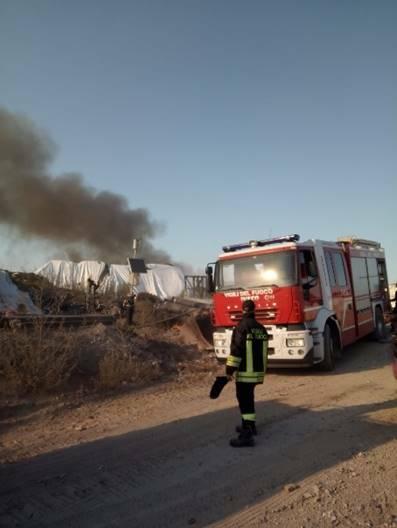 incendio discarica cerro tanaro