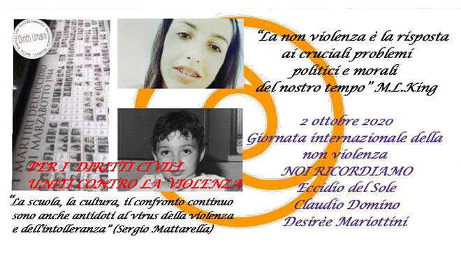 locandina Giornata internazionale della non violenza