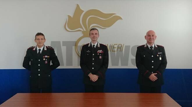 Nuovi ufficiali carabinieri Asti