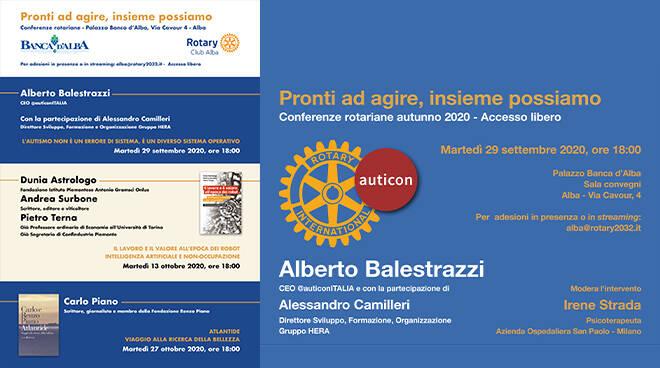 Rotary Club Alba, al via le conferenze autunnali in presenza e in streaming