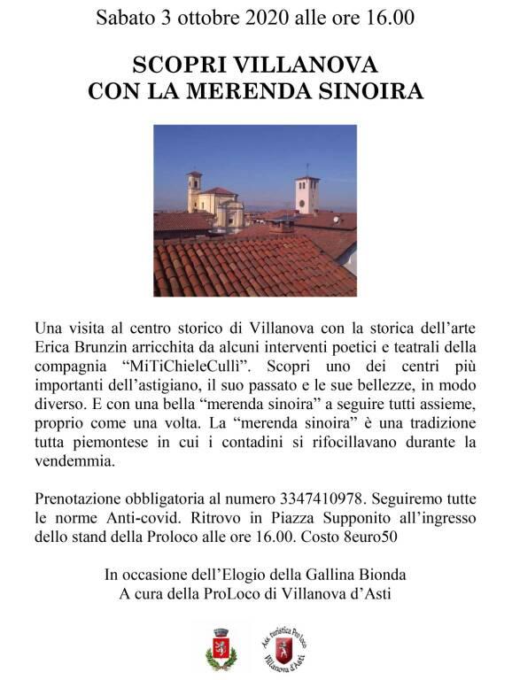 Visita alla scoperta delle Bellezze di Villanova d'Asti con la merenda sinoira