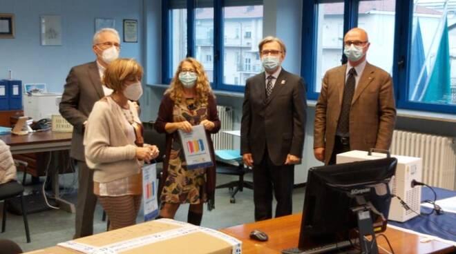 consegna sanificatori rotary a scuole astigiane