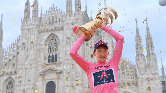 Giro d'Italia 2020 vincitore Tao Geoghegan Hart photo credi LaPresse