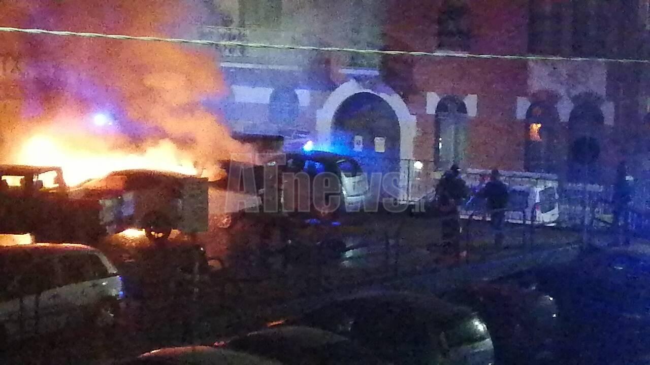 incendio auto asti parcheggio via guttuari