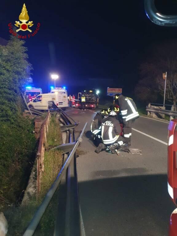 incidente stradale corso casale località valgera