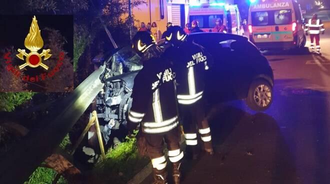 incidente stradale località valgera