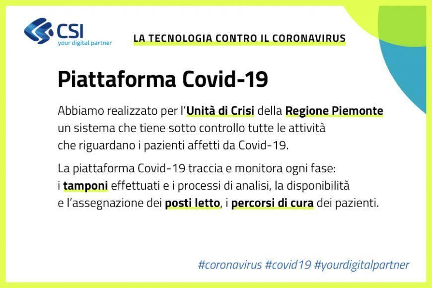 Piattaforma Covid Piemonte