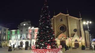 Albero di natale piazza San Secondo Asti 2020