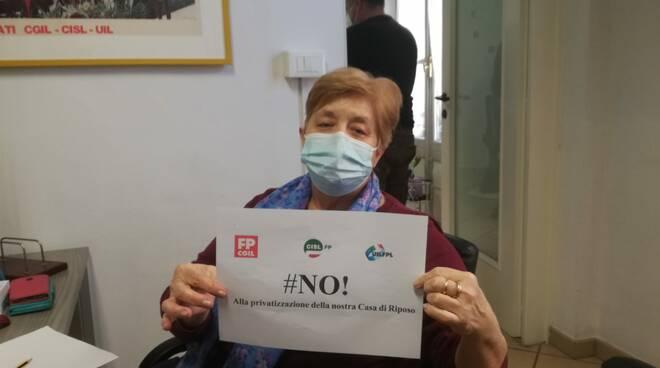 """campagna Cgil Cisl Uil """" #NO! alla privitazzazione della nostra Casa di Riposo """""""