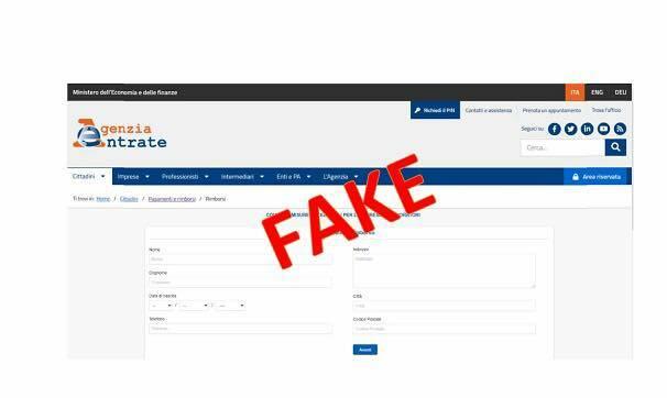 false mail agenzia entrate