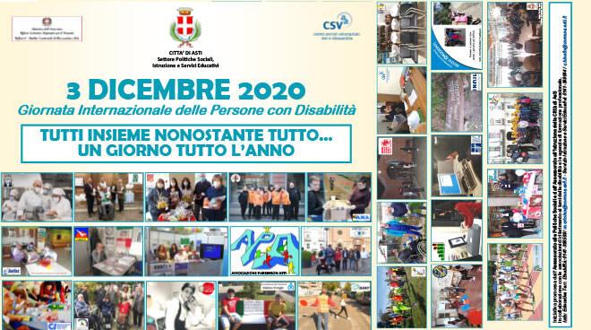 Il Comune di Asti realizza un video per la Giornata Internazionale delle Persone con Disabilità