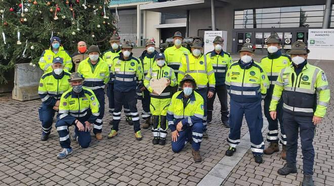 Anche gli Alpini astigiani impegnati all'Ospedale da Campo di Bergamo