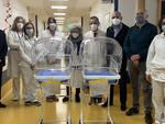 """Due culle di trasporto intraospedaliero riscaldanti donate alla pediatria dell'ospedale """"Michele e Pietro Ferrero"""""""
