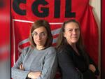 Giorgia Perrone, Segretaria Provinciale SLC CGIL Asti, e Patrizia Bortolin, RSU SLC CGIL Asti.