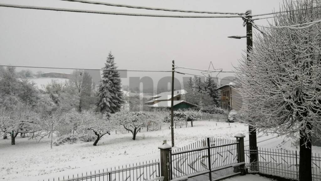 Neve Astigiano e Monferrato 28122020 Gabiano frazione Piagera