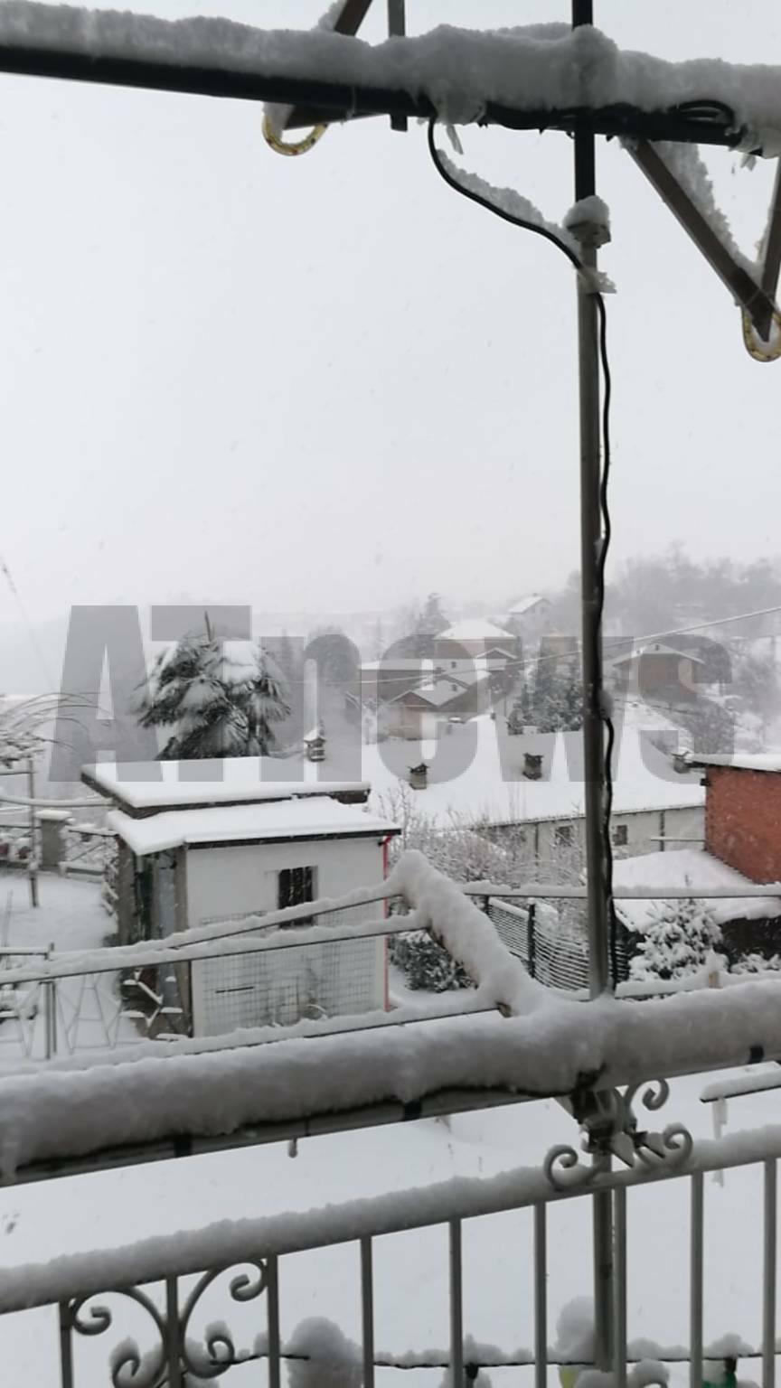 Neve nell'Astigiano e Monferrato 28122020 Ponzano