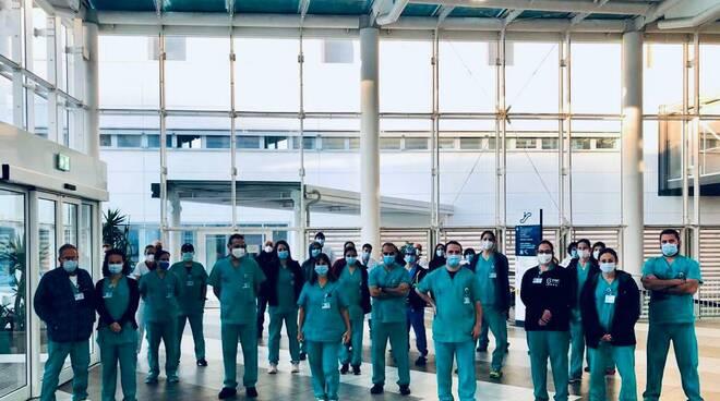 """Primo giorno di servizio dei medici israeliani all'ospedale """"Michele e Pietro Ferrero"""" di Verduno"""