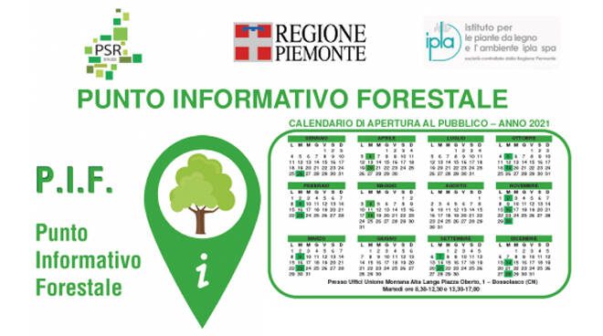 Attivato un punto informativo forestale a Bossolasco